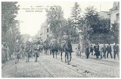 L'entrée des troupes rue de Metz (Général Grange). Nancy, 27 juillet 1919