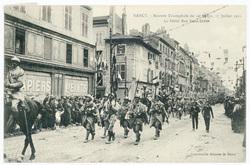 Défilé rue Saint-Dizier. Nancy : rentrée triomphale du 20e corps, 27 juill…