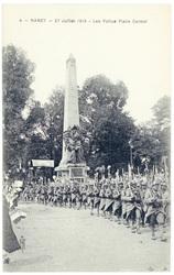 Les poilus place Carnot. Nancy, 27 juillet 1919