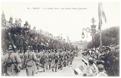 Les poilus place Carrière. Nancy, 27 juillet 1919