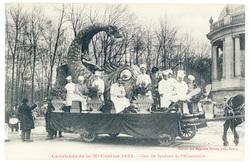 Char des Syndicats de l'Alimentation : cavalcade de la Mi Carême 1922