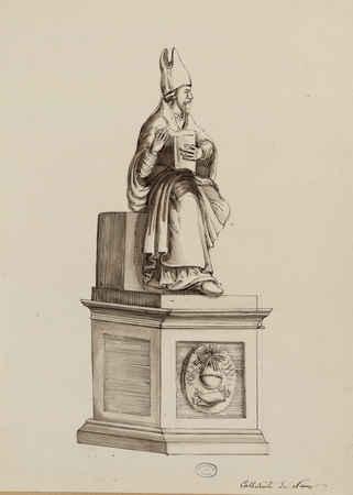 Cathédrale de Nancy : statue de Saint Pierre représenté en pape