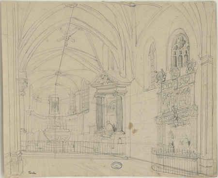 Enfeu du tombeau de René II et chœur