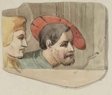 Fragment d'une fresque découverte à Saint-Epvre