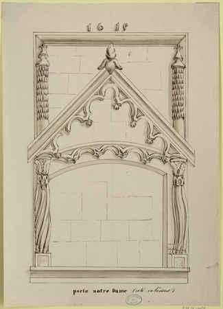 Porte Notre dame (coté extérieur)