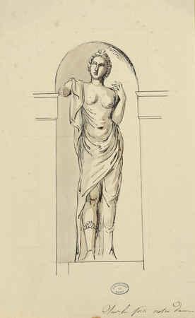 [Statue se situant] sur la Porte Notre-Dame