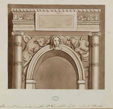 Porte d'entrée de la maison des sœurs de Saint-Vincent de Paule, rue de la…