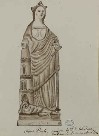 [Statue de] Sainte Barbe. Ancienne hôtel des intendants des Ducs de Lorrai…