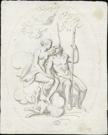 Couple mythologique (Aurore et Céphale)