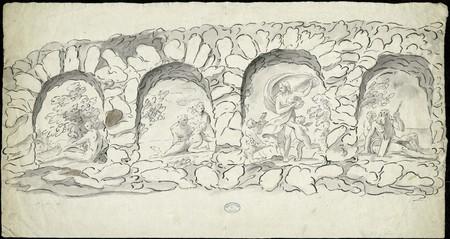 Scènes mythologiques sous arcades de pierre