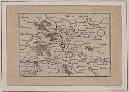 Carte du Gouvernement de Nancy