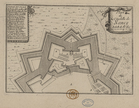 Plan de la citadelle de Nancy