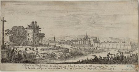 Veüe et perspective du marais où Charles Duc de Bourgogne fut tué à la bat…
