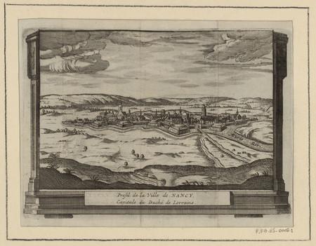 Profil de la ville de Nancy, capitale du Duché de Lorraine