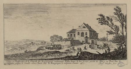 Veue et perspective de la chapelle des Bourgignons, maintenent Nostre Dame…