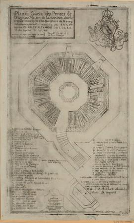 Plan du caveau des princes de l'auguste Maison de Lorraine, sous la chapel…