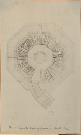 Plan du caveau des Princes de Lorraine. Chapelle ducale