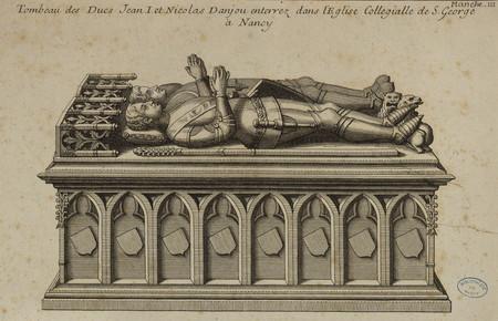 Tombeau des Ducs Jean I et Nicolas Danjou enterrez dans lÉglise Collegiall…