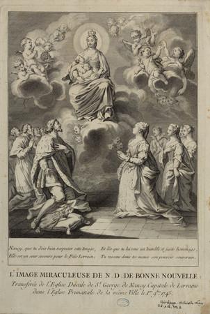 L'image miraculeuse de N.D. de Bonne Nouvelle transférée de l'église ducal…