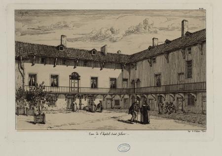 Cour de l'hopital Saint-Julien