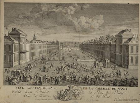 Veüe septentrionale de la Carrière de Nancy, dediée à sa Majesté le Roy de…