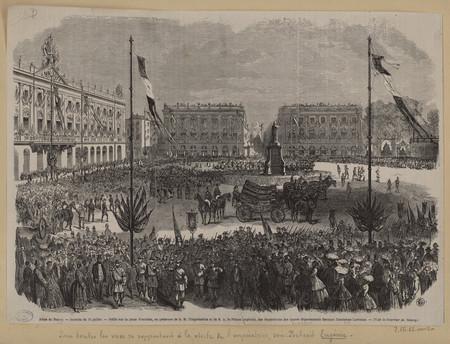 Journée du 15 juillet : défilé sur la place Stanislas, en présence de S[a]…