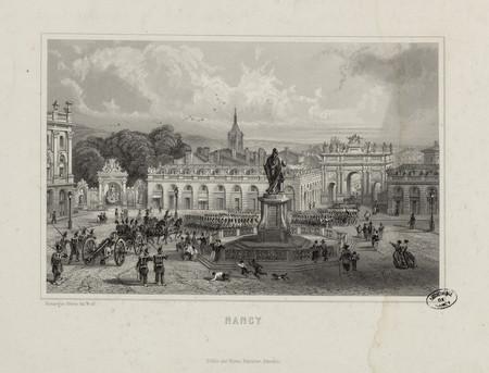 Vue septentrionale de la place Stanislas de Nancy