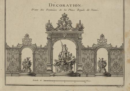 Décoration d'une des fontaines de la place royale de Nanci