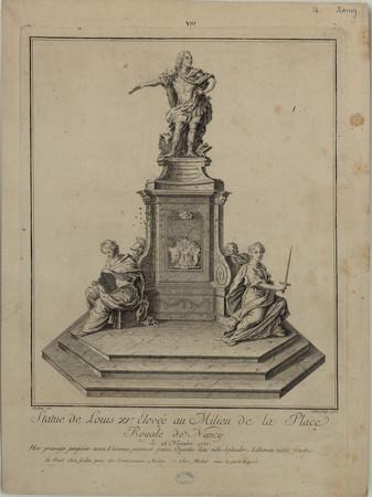Statue de Louis XV élevé au milieu de la place royale de Nancy, le 26 nove…