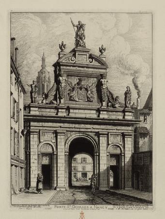 Porte Saint-Georges à Nancy, sculptée par Florent Drouin