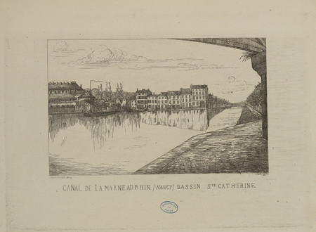 Canal de la Marne au Rhin, Nancy, Bassin S[ain]te Catherine