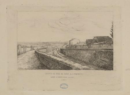 Entrée de l'embarcadère - Au nord (Nancy). Chemin de fer de Paris à Strasb…