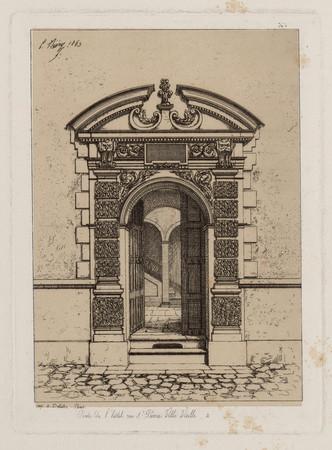 Porte de l'hôtel, rue S[ain]t-Pierre Ville Vieille, 2