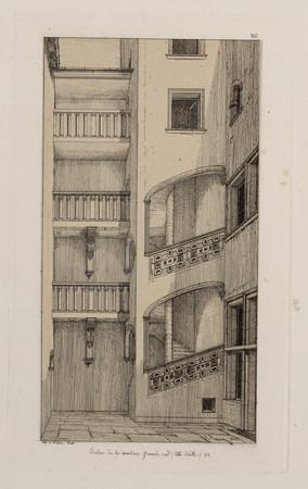 Escalier de la maison grande rue (Ville-Vieille) 92
