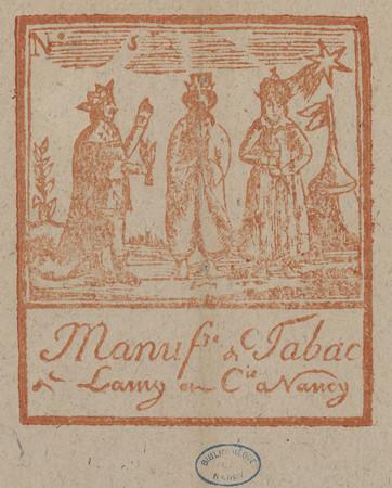 Manuf[actu]re de tabac de Lamy et C[ompagn]ie à Nancy