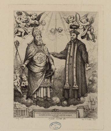 Tableau patronal de la confrérie de S[ain]t Yves et de S[ain]t Nicolas res…