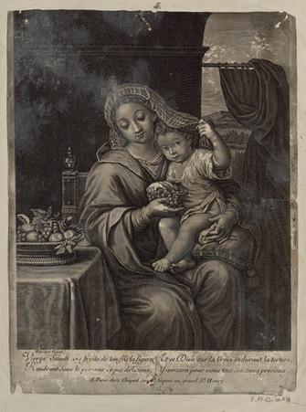 Vierge Sainte, ces fruits de ton fils la figure et ce Dieu sur la Croix en…
