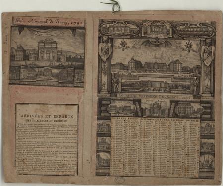 Petit almanach de Nancy, 1791