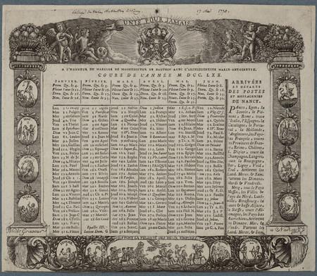 Almanach à l'honneur du mariage de Monseigneur le Dauphin avec l'archiduch…