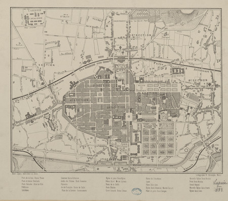 Plan de Nancy 1884