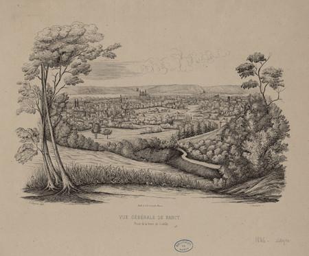 Vue générale de Nancy, prise de la terre de Gentilly