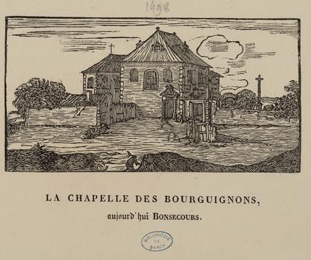 La chapelle des Bourguignons, aujourd'hui Bonsecours