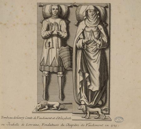 Tombeau de Henry Comte de Vaudemont et d'Élizabeth ou Isabelle de Lorraine…