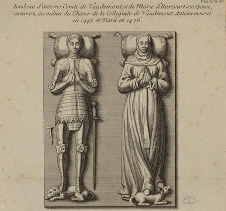 Tombeau d'Antoine Comte de Vaudemont, et de Marie d'Harcourt son épouse, e…