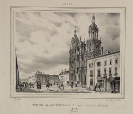 Vue de la cathédrale et de l'ancien évêché, Nancy