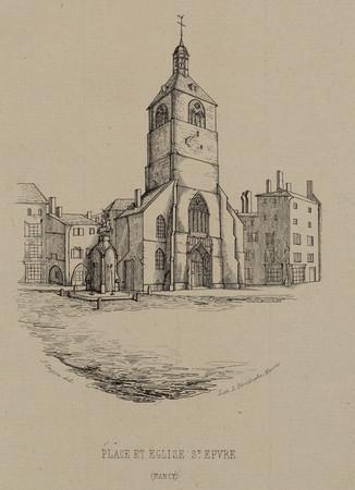 Place et église S[ain]t Epvre (Nancy)