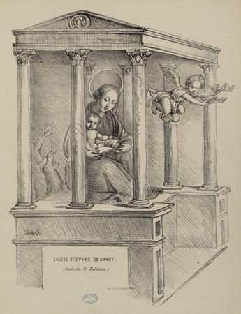 Église S[ain]t Epvre de Nancy (suite du 2e tableau)