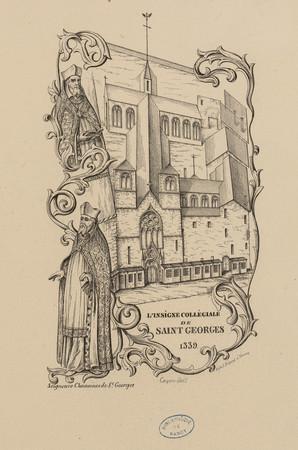 L'insigne collégiale de Saint-Georges 1339