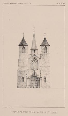 Portail de l'église collégiale de S[ain]t Georges
