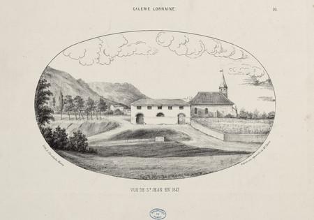 Vue de S[ain]t Jean en 1847 : galerie Lorraine